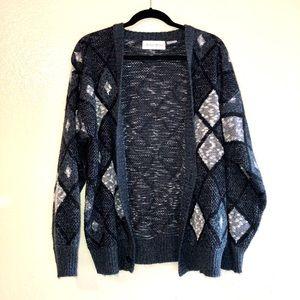 VINTAGE Grandpa Sweater Cardigan L